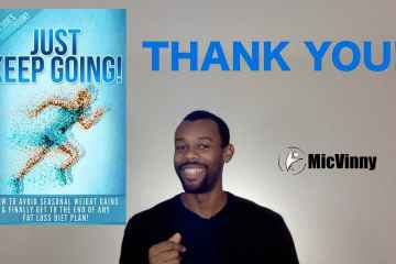 Thanks You from MicVinny to all those who supported my latest book, Just Keep Going
