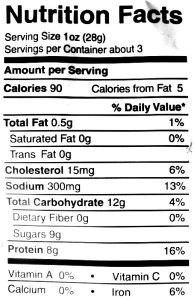 Beef jerky nutritional information