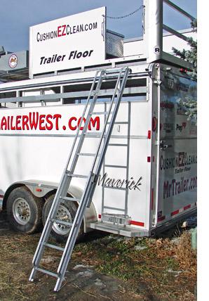 step above trailer aluminum ladder for
