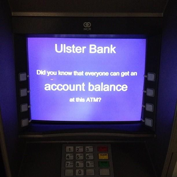 20120625 Ulster Bank account balance