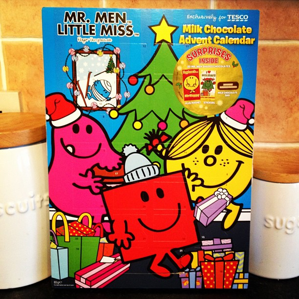 20121027 Mr Men advent calendar