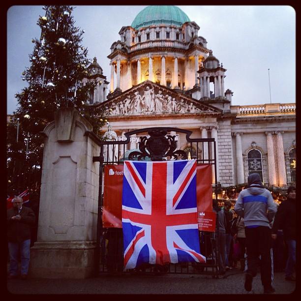 20121208 A British flag protest