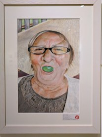 My Grandma with Grape (2016) by Marta TURALSKA. Texaco Children's Art.