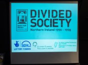 """Divided Society: Northern Ireland 1990-1998. Exhibition launch: """"We Lived It: The Social Impact of the Troubles"""", Divided Society project, Linen Hall Library, Belfast, Northern Ireland. (c) Allan LEONARD @MrUlster"""