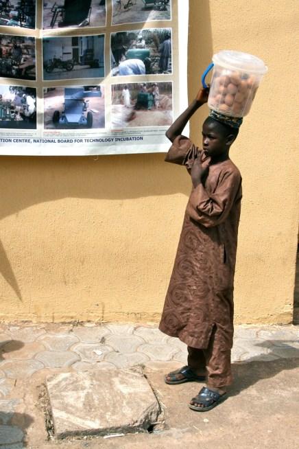 Child Egg Vendor. Kaduna, Nigera.