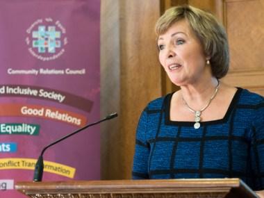 Maureen HETHERINGTON (CRC award recipient). David Stevens Memorial Lecture and Presentation of CRC Award for Exceptional Achievement, Parliament Buildings, Belfast, Northern Ireland. @NI_CRC #CRWeek15