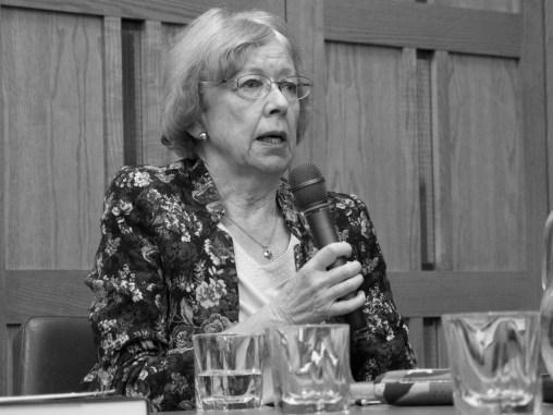 Marianne ELLIOTT. John Hume: Irish Peacemaker book launch, Canada Room, Queen's University Belfast, Northern Ireland.