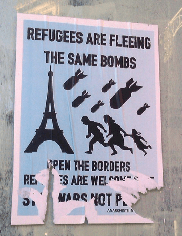 Refugees are fleeing the same bombs