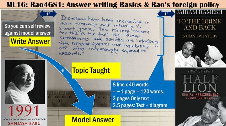 Narasimha Rao's Diplomacy & Answer writing Basics