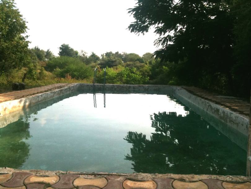 Swimming pool at my uncle's farm in Junnar