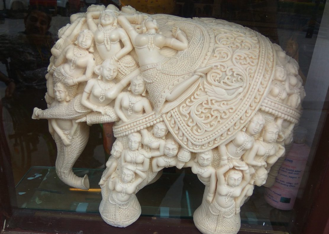 Engraved elephant