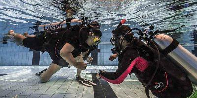 Mrunmaiy goes underwater - scuba diving