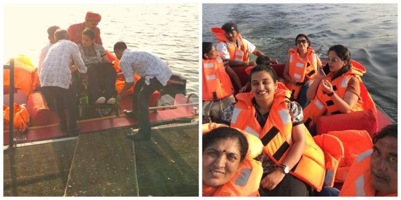 Boat ride in Lake Pichola, Udaipur
