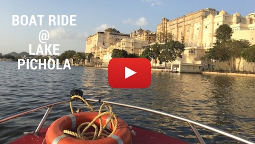 Boat ride at Lake Pichola in Udaipur