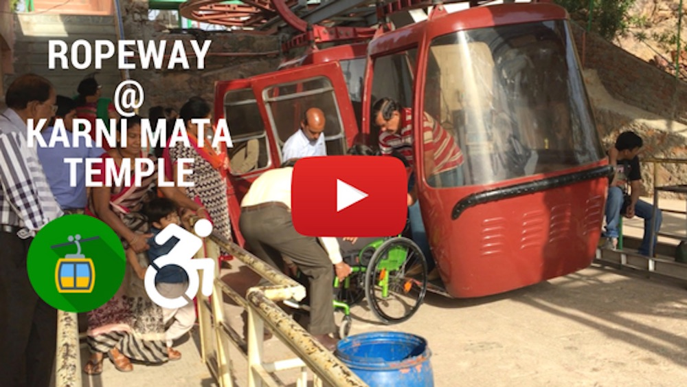Video: Ropeway ride in Udaipur on my Wheelchair