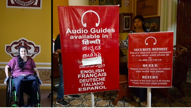 The audio guide is available in 8 languages