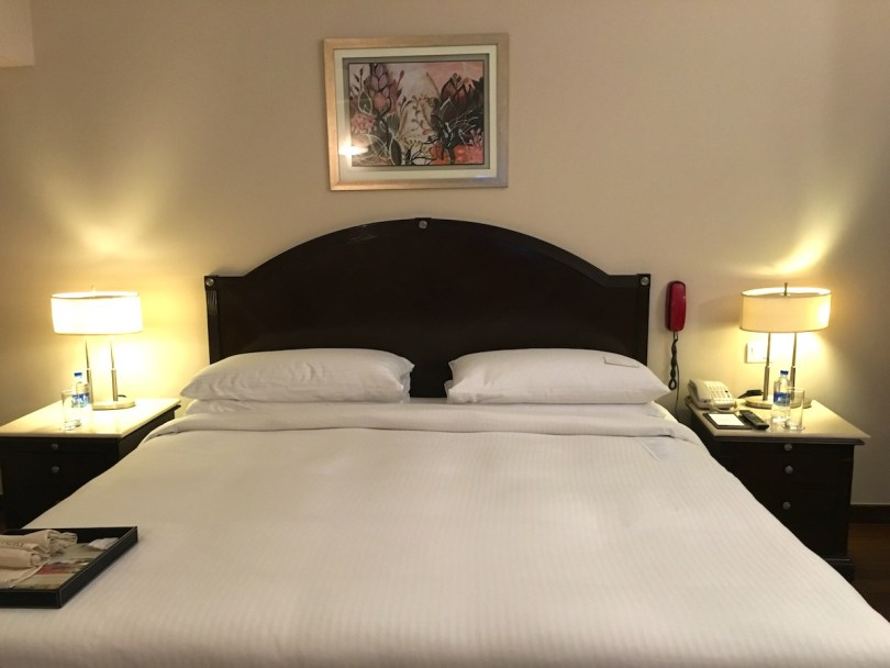King-size bed in the accessible room