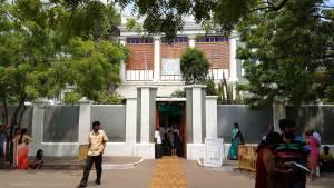 Entrance of Sri Aurobindo Ashram