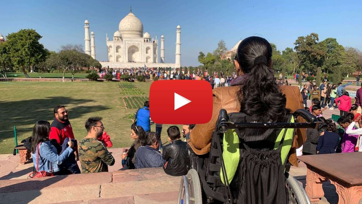 Facing the Taj Mahal in Agra