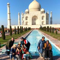 Taj Mahal on my wheelchair