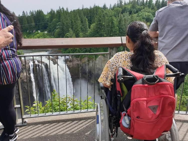 #WheelchairWanderer overlooking the breathtaking Snoqualmie Falls