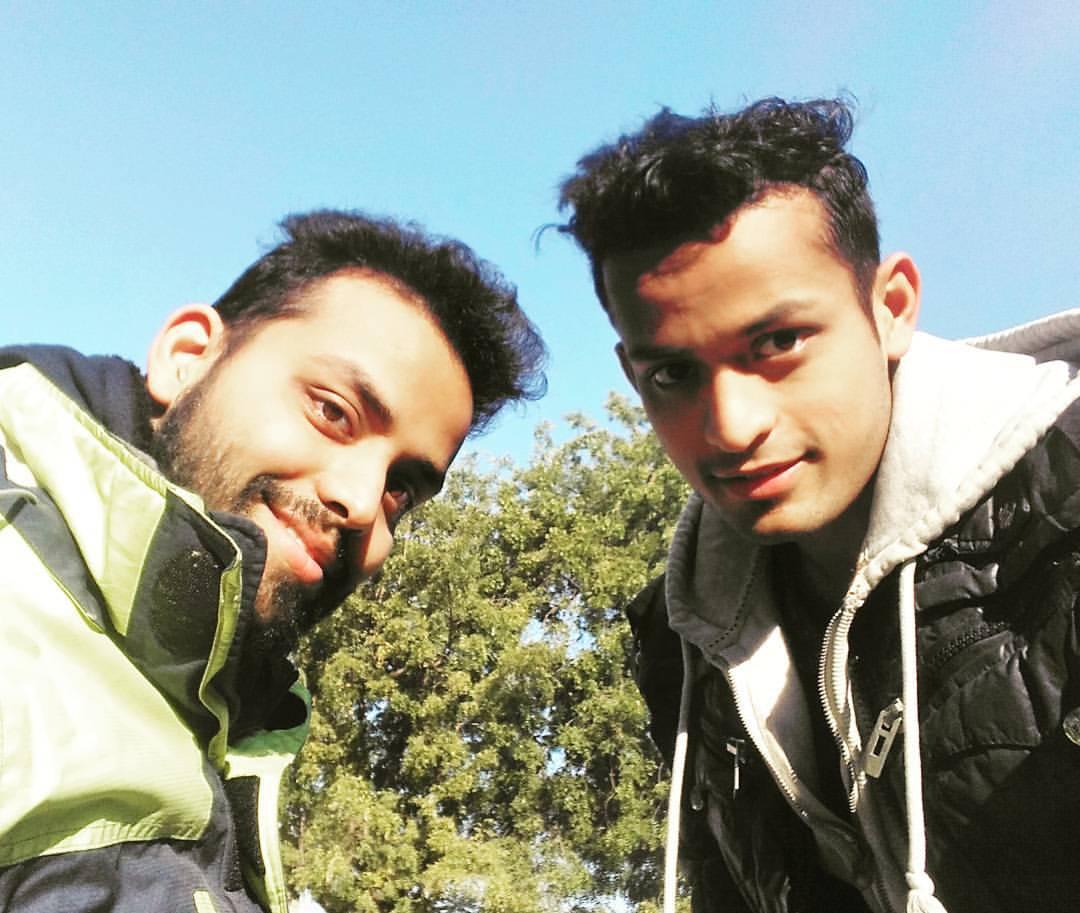 Tarang with his brother Anurag Kashyap