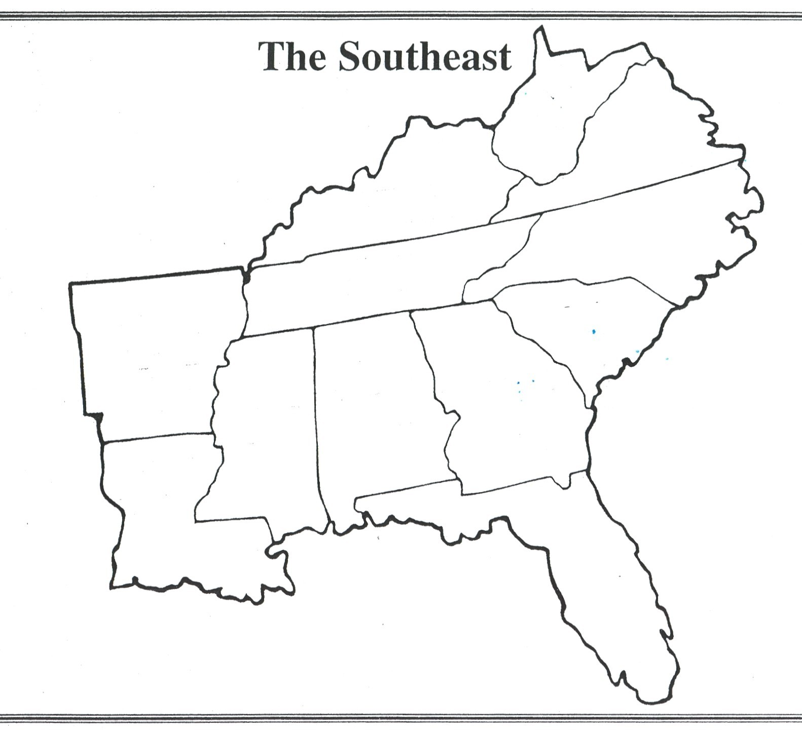 Printable Map Of The Southeast Region Of The United States