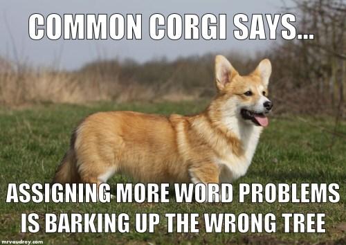 Common Corgi - word problems