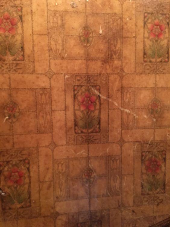 Historic wallpaper 1900s sanitary Art Nouveau