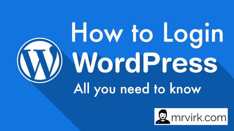 how to login into wordpress website