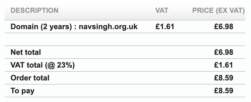 Bought the cheapest domain I could afford and it happened to be .org.uk that's why the site wasn't .com, now you know. ha ha