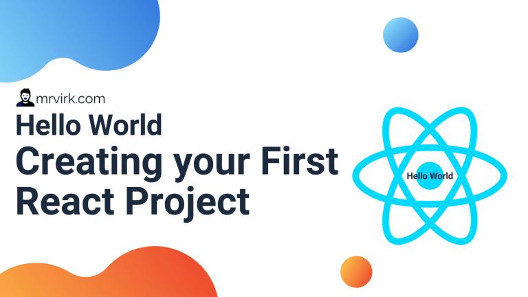 hello world react project