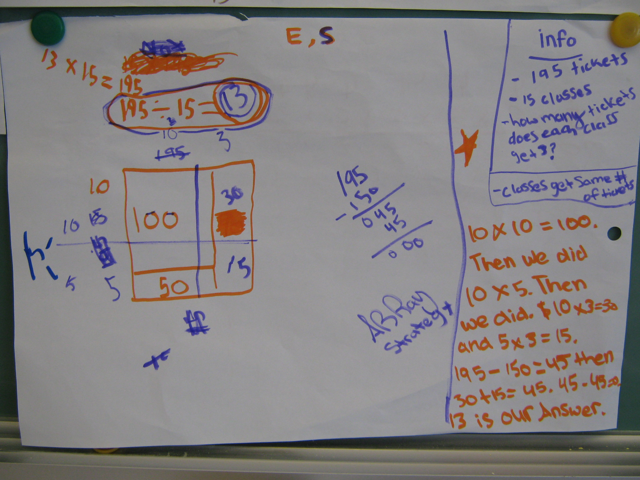 Solving Division Problems With Arrays