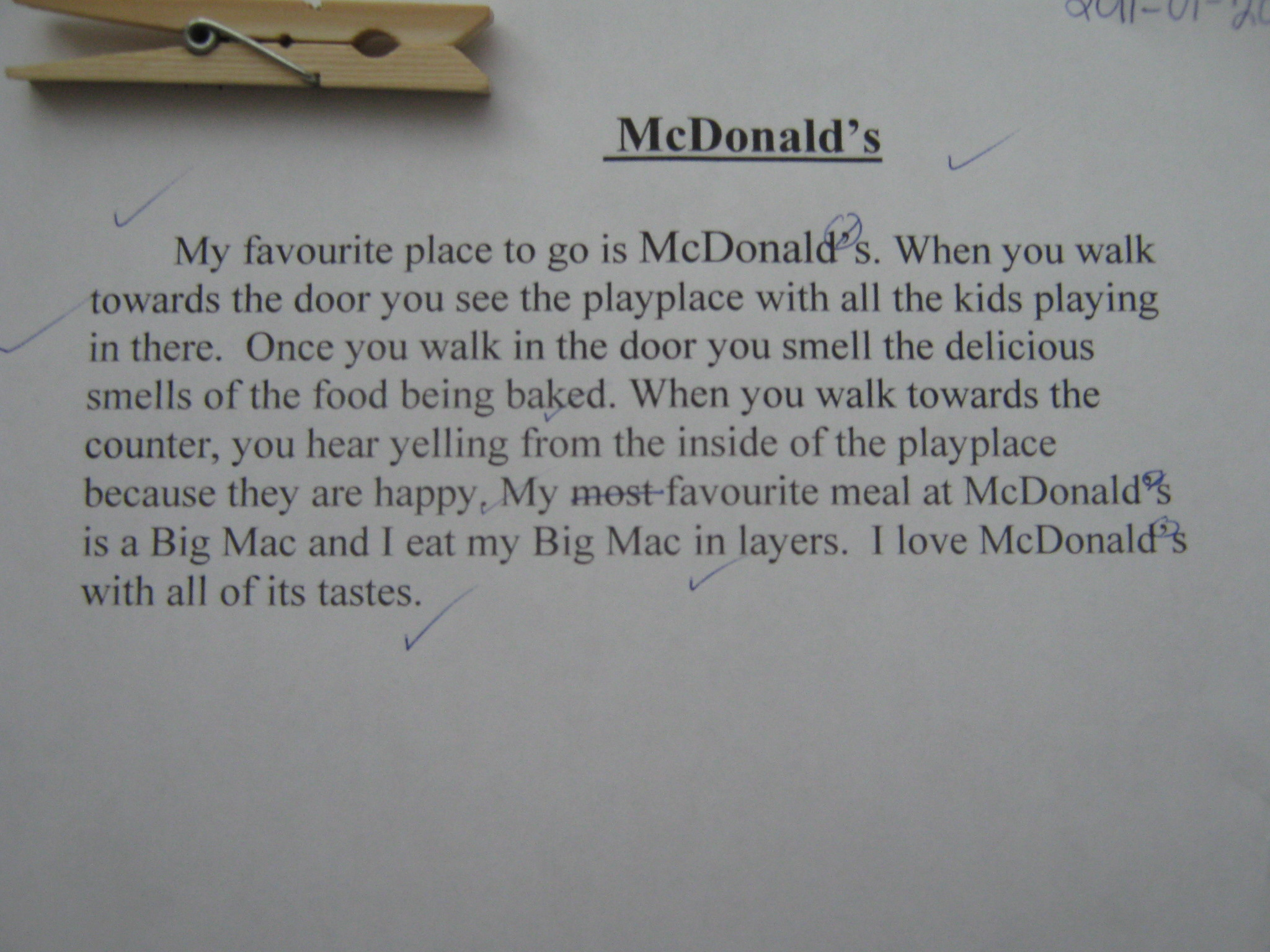 Narrative Paragraph For Grade 5