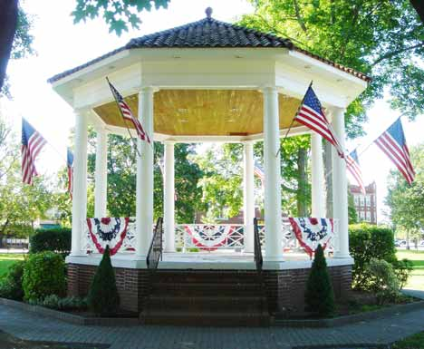 Bandstand in Veterans' Memorial Park.