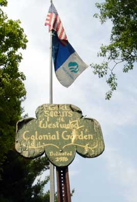 Girl Scouts of Westwood Colonial Garden.