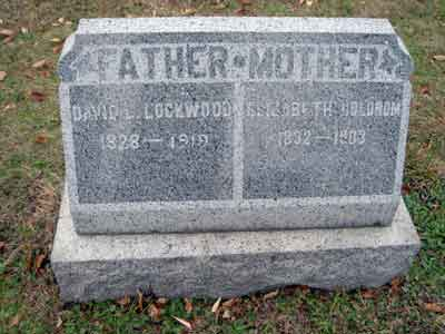 David L. Lockwood's grave marker.