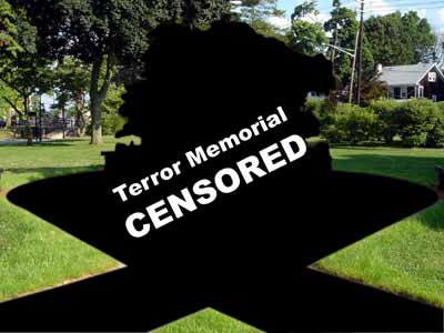 Westwood Terror Memorial in Veterans' Memorial Park.