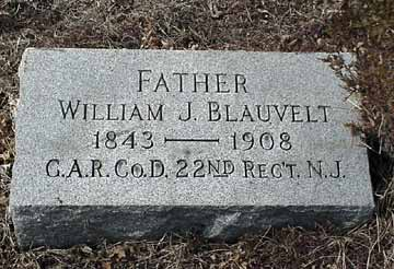 William J. Blauvelt's grave marker.