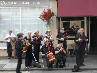 Bath Folk Festival, St James Place 2010 - musicians playing for Blackadder