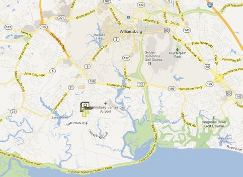 location map kensington woods williamsburg va