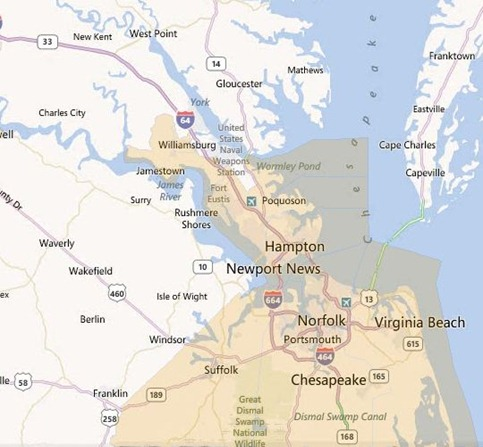 USDA loan areas in south eastern va
