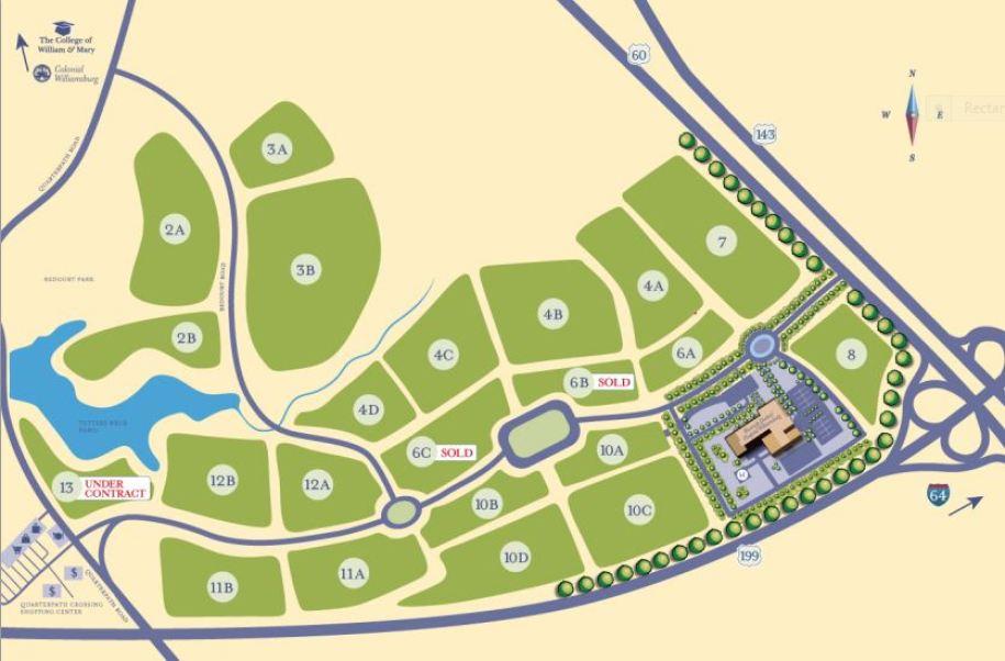 neighborhood siteplan quarterpath at williamsburg
