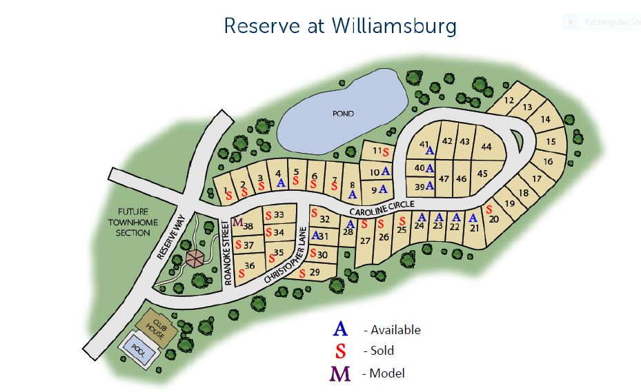 siteplan reserve at williamsburg