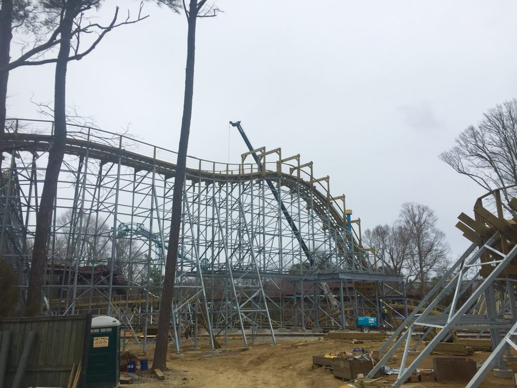 Sneak Preview Of New Wooden Roller Coaster At Busch Gardens Williamsburg Mr Williamsburg
