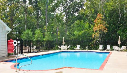outdoor heated pool villas at five forks