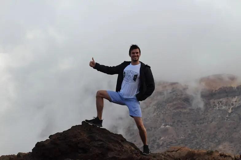 mountain climbing travel tenerife clouds volcano