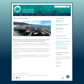 The featured image layout for NW Seaport