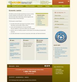 WSCADV New Project Portal Page