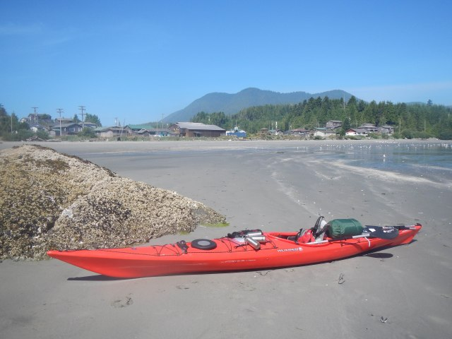 Landing at Ahousaht and waiting for Tofino Water Taxi to come get me.